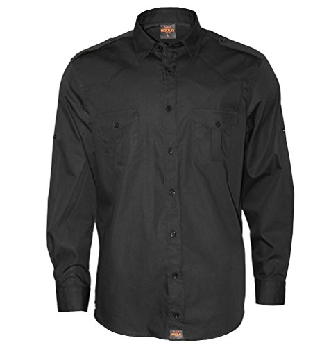 ROCK-IT Apparel Camisa de Hombre de Manga Larga Aspecto Militar...