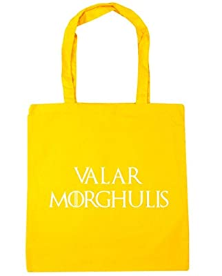HippoWarehouse Valar morghulis Tote Shopping Gym Beach Bag 42cm x38cm, 10 litres