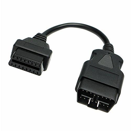 Adaptador de Universe II OBD 2Diagnóstico Interface Cable alargador hembra 20cm 16Pin