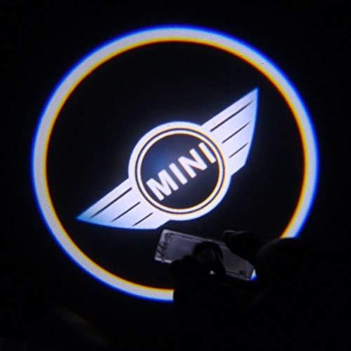 Aokairuisi Kit Luci Logo Proiettore Mini Cooper sottoporta LED CREE Cortesia 5W 12V Universale