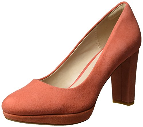 Clarks Damen Kendra Sienna Pumps, Orange (Coral Suede), 41 EU
