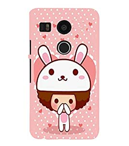 EPICCASE Bunny me Mobile Back Case Cover For LG Nexus 5x (Designer Case)