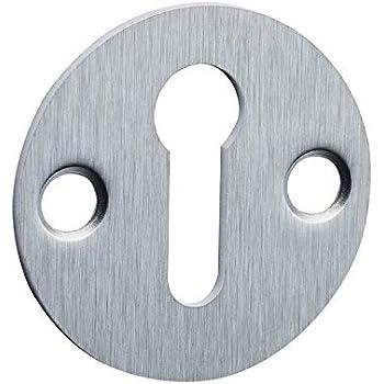 Frelan Satin Chrome Open Closed 32mm Keyhole Escutcheon