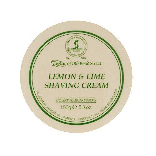 Lemon Lime Shaving Cream (Taylor of Old Bond Street Lemon - Lime Shaving Cream Jar, 5.3-Ounce by Taylor of Old Bond Street)