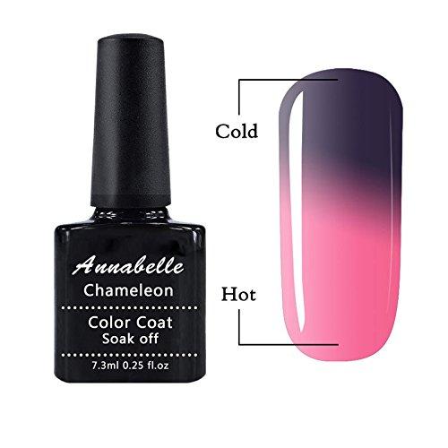 Annabelle Thermo Nagellack UV Nagellack Soak Off UV Gel Nagellack Nail Art Top Coat Base Coat 7.3ml 5751