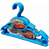 Baby Bucket Plastic Clothes Hanger for Wardrobe 6 Piece Set (Small, 28 BLUE CARS)