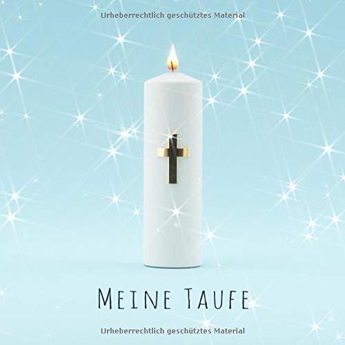 Meine Taufe: Gästebuch zum Eintragen mit 110 Seiten - Blaue Edition