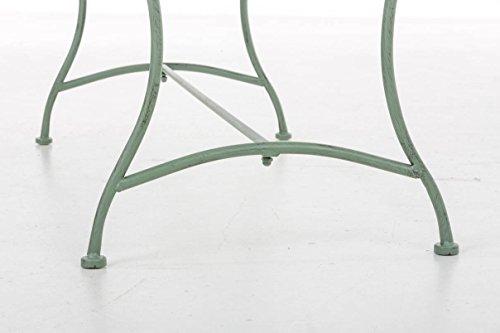 CLP Nostalige Metall-Gartenbank SELENA im Landhausstil, aus lackiertem Eisen, 109 x 43 cm – aus bis zu 6 Farben wählen Antik Grün - 8