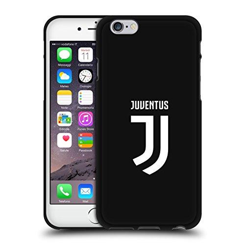 Offizielle Juventus Football Club Einfarbig Verschiedene Designs Schwarze Soft Gel Huelle kompatibel mit iPhone 6 / iPhone 6s