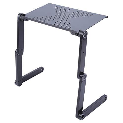 Tragbaren Laptop-schreibtisch (ZSPAYNLA Einstellbare tragbare Laptop Schreibtisch Ständer vertikale Schlafcouch Tablett Computer Notebook Bank Bett Tisch mit Mauspad)
