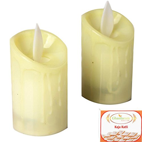 Ghasitaram Gifts Diwali Gifts Diwali Candles Set of 2 Led Candles with...