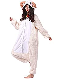 SAMGU Chèvre Onesie Animal Pyjamas Adult Homewear Kigurumi Cosplay Costume