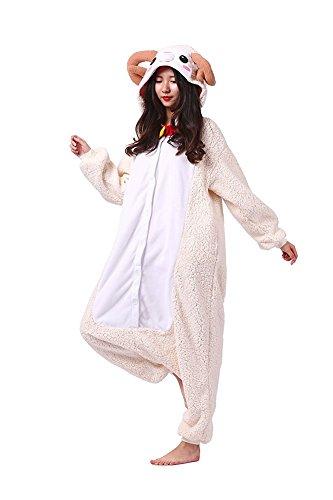 SAMGU Ziege Tier Pyjamas Erwachsene Homewear Kigurumi Cosplay Animal Kostüm ()