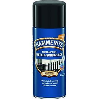 AKZO NOBEL (DIY HAMMERITE) Metall-Schutzlack glänzend Schwarz 0,400 L, 5087590 Farbe: Schwarz