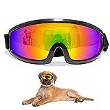 IREENUO Haustiere, Hunde, große Sonnenbrille, Brille mit UV-Schutz, Helm, wasserdicht, mit Goggle mit verstellbarem Riemen für mittlere große Hunde, Skifahren, Surfen Fahren,