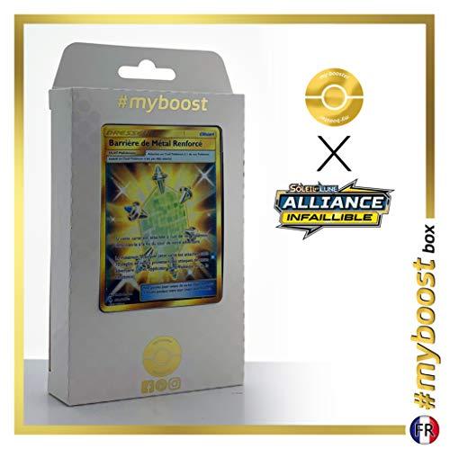 Barrière de Métal Renforcé (Barrera Núcleo Metálico) 232/214 Entrenadore Secreta - #myboost X Soleil & Lune 10 Alliance Infaillible - Box de 10 cartas Pokémon Francés