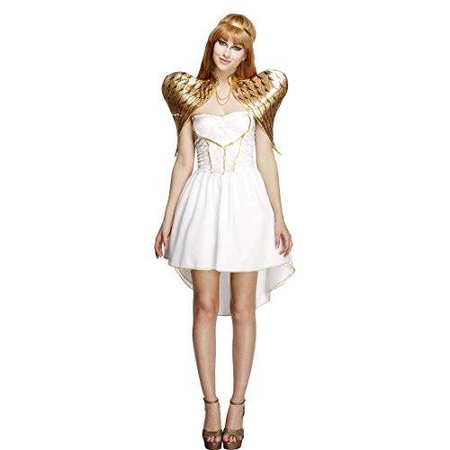 Amakando Damenkostüm Engel - M (38/40) - Kostüm Christkind Göttin Outfit Angel Verkleidung Weihnachtsengel Faschingskostüm Weiße Fee Engelskostüm Damen