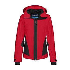 Bergson Damen Skijacke MIZAR – PFC-frei, wasserdicht, Winddicht, atmungsaktiv, warm wattiert, Wassersäule: 12000 mm, Atmungsaktivität: 12000 g/qm/24Std