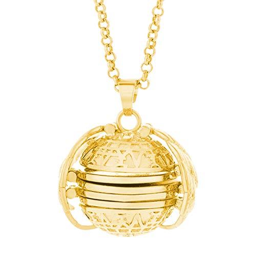 Überraschungsgeschenk für Freundinnen Mütter Tochter,Erweiterung Foto Necklaces Medaillon Halskette Kette Necklaces Anhänger Geschenk Schmuck Jewelry Frauen Cream Cup Chipsfrisch (Gold)
