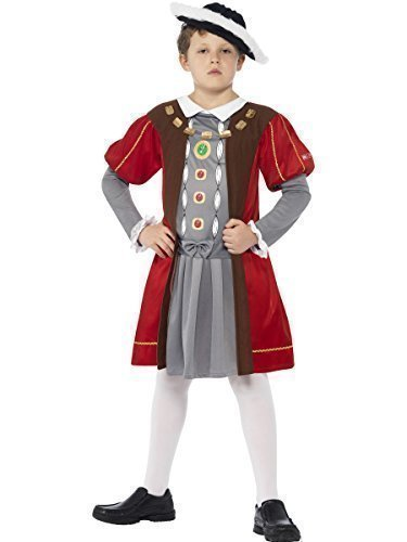 erkleidung König Henry VIII Tudor Monarch für Buchtag - Bunt, 7-9 Jahre ()
