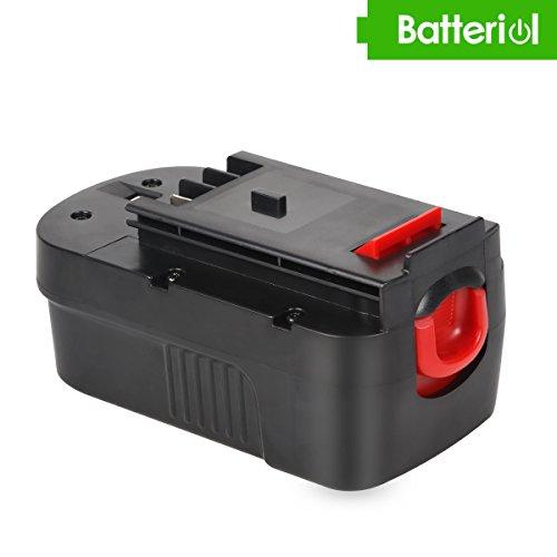 Batteriol 18V 3.0Ah Batterie pour Black & Decker HPB18 HPB18-OPE 244760-00 A1718 A18 FSB18 FEB180S Remplacement