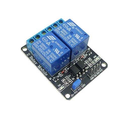 Aihasd 2 Kanal 5V Relay Relais Module Modul für Arduino PIC AVR DSP MCU Relay Module