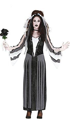 Kostüm Für Schwarze Erwachsene Witwe - Schwarze Witwe Braut Kostüm für Halloween Maskerade