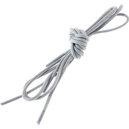 Les lacets Français - Lacets Ronds Coton Ciré Couleur Gris Cendre