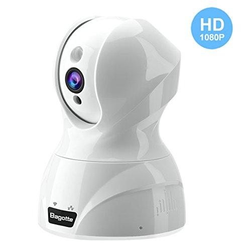 IP Kamera,Bagotte 1080P HD Überwachungskamera Innen Wlan Nachtsicht Bewegungsmelder Mini Kamera Eingebautes Mikrofon und Lautsprecher (Mini Hd überwachungskamera)