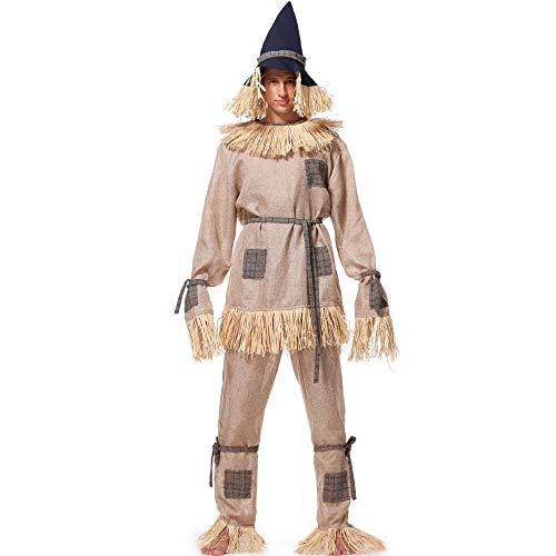Miss Y Halloween Mens Scarecrow Kostüm Cosplay Spiel Drama Dress Up - Scarecrow Cosplay Kostüm