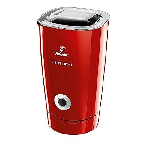 Tchibo Cafissimo Elektrischer Milchaufschäumer, 250 ml in rot