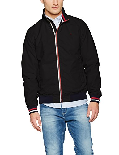 Tommy_Jeans Denim Herren Jacke Thdm Basic Casual Bomber 22, Schwarz (Tommy Black 078), Small
