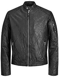 2b5fd5698c3e Jack   Jones NOS Men s Jjerichard Clean Leather Jacket Noos