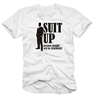coole-fun-t-shirts Herren t-shirt How I met your mother - SUIT UP -weiss , GR.S