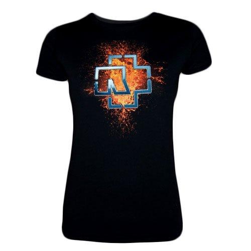 """Rammstein, T-shirt per donne """"Lava Logo"""" (L)"""
