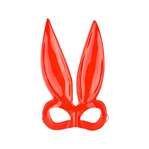 Huacat Halloween Maske Damen Kaninchen Kostüm Accessoire Maskerade Cosplay Plüsch Hasen Für (Clown Kostüm Mieten)