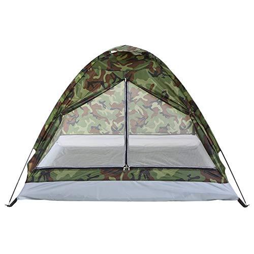 ZHJLOP Zelt 2-3personen aluminiumstange Doppelschicht doppeltür Winddicht regendicht professionelles Camping winterzelt ohne schneerock