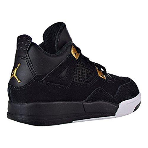 Jordan Boys' Toddler Retro 4 Basketball Shoes 308500-032 Black/Metallic Gold/White (9c) (Kids Jordan 4 Retro)