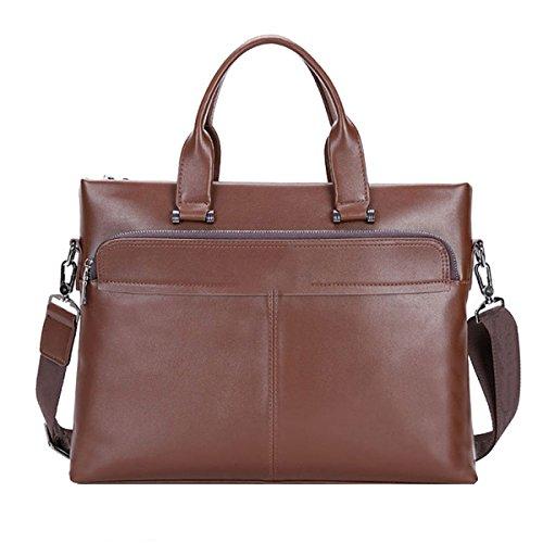 Yy.f Herren-Handtasche Querschnitt Business Aktenkoffer Lässige Taschen Computer-Taschen Handtasche Fester Beutel 3 Farben Brown