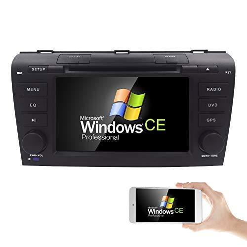 Hizpo 17,8 cm double DIN EN Dash HD écran tactile lecteur DVD de voiture Navigation GPS stéréo pour Mazda 3 2004 2005 2006 2007 2008 2009 support Navi/Bluetooth/SD/USB/radio AM/FM/3G/DVD/1080p