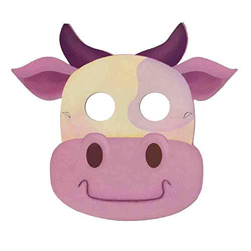 ESPA / FunnyFashion Party-Maske Kuh 8 St.