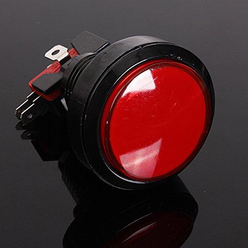 Preisvergleich Produktbild AUDEW 45mm schalter Push Switch Arcade Button Mikroschalter Aktionstaster LED 5V/12V Rot