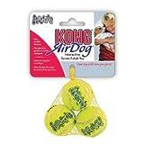 KONG - Squeakair Balls - Balle de tennis couineuse, n'abîme pas les dents - Chiens moyens (x3)