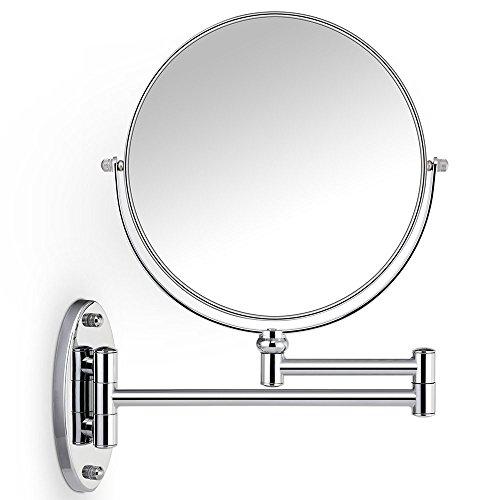 LED-Schminkspiegel 10X beleuchtet Kosmetikspiegel im Badezimmer, Rasur für Männer