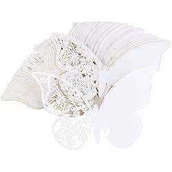 50 marcasitios mariposa blanca