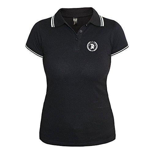 Trojan Girly Contrast Polo (schwarz/weiß) Schwarz