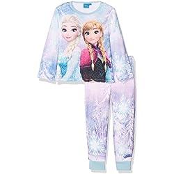 Disney Frozen Girl's Frozen Olaf Fleece Pyjama Set, Blue, 4-5 Years (Manufacturer Size: 5 Years)