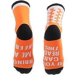 WANPUL Compresión Calcetines Ciclismo Hombre Mujer Transpirable Que Absorbe Ciclismo Calcetines,Corriendo,Senderismo