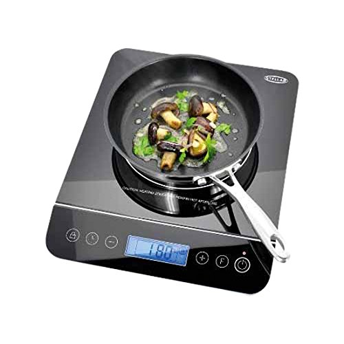 Stellar Glass Induction Hob, Black, 2000 W