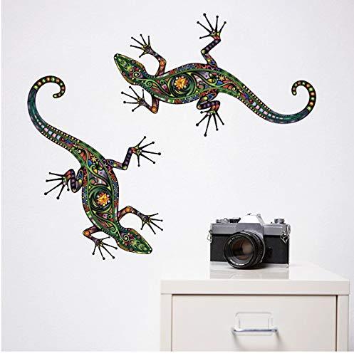 PANDABOOM Pegatinas De Pared Estilo Gecko con Adornos Personalizados Decoración De Pared DIY Tatuajes De Pared